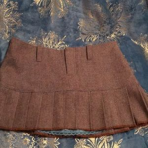 Abercrombie & Fitch Pleated Wool Mini Skirt